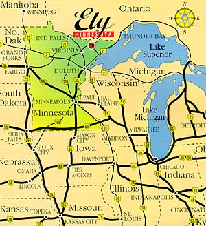 Where is Ely, Minnesota?